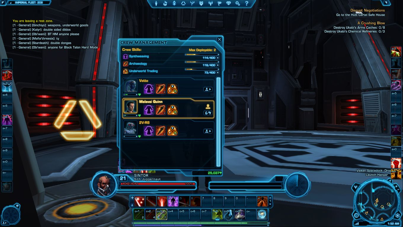 Crafting Top Level Mods Swtor